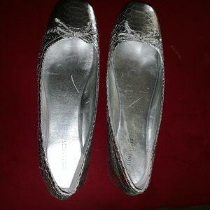 Slightly worn Silver Nine West Ballerina Shoes